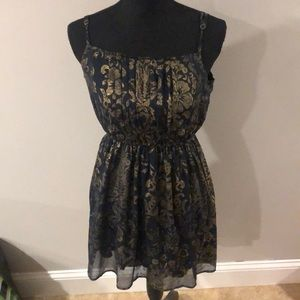 3 for $20 A&F gold and navy woman's dress medium